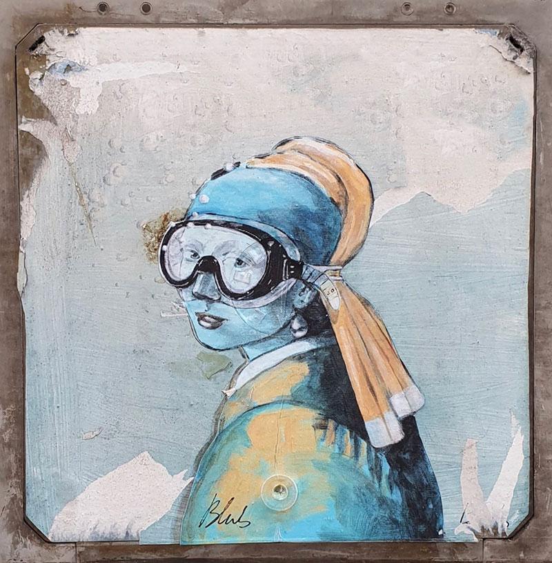 Blub -Florentine street artist and snorkeling fan.